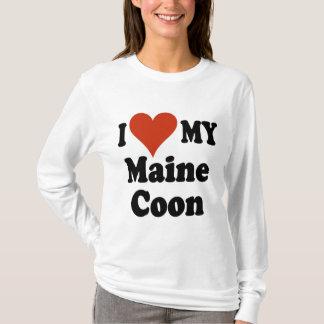 T-shirt J'aime mes cadeaux et habillement de chat de