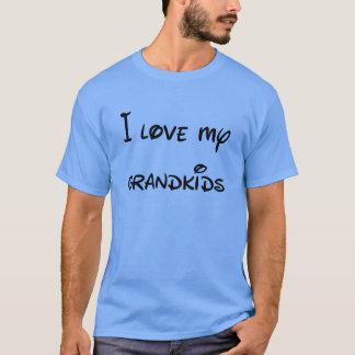 T-shirt J'aime mes Grandkids à la lune et au dos