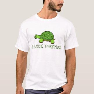 T-shirt J'aime mignon vert de tortues