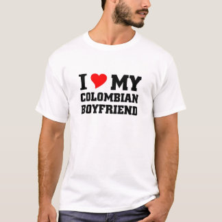 T-shirt J'aime mon ami colombien