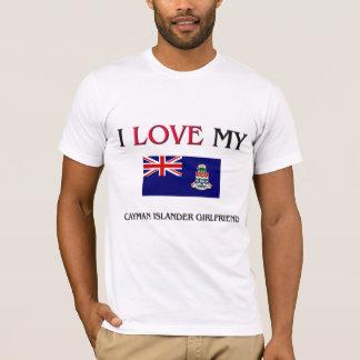 T-shirt J'aime mon amie d'insulaire de caïman