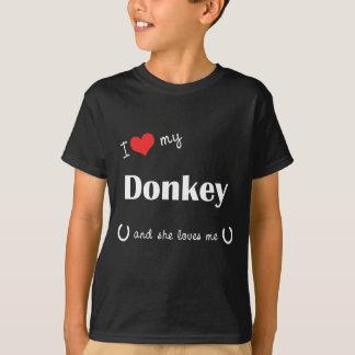 T-shirt J'aime mon âne (l'âne femelle)