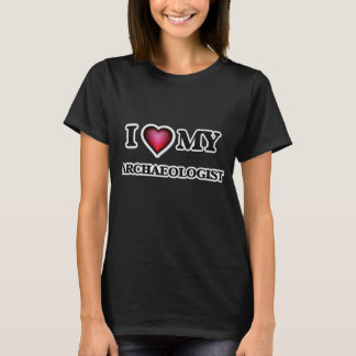T-shirt J'aime mon archéologue