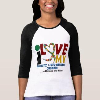 T-shirt J'aime mon AUTISME autiste et de NonAutistic des