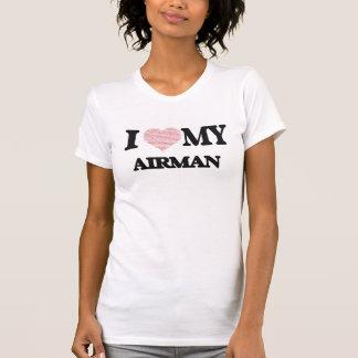 T-shirt J'aime mon aviateur (le coeur fait à partir des