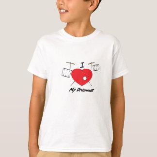 T-shirt J'aime mon batteur