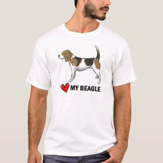 T-shirt J'aime mon beagle