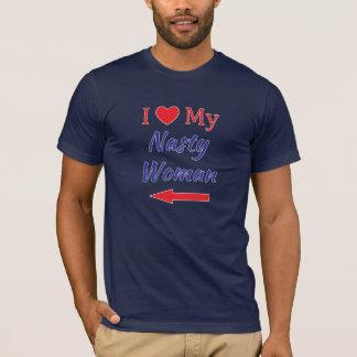 T-shirt J'aime mon bleu blanc rouge méchant de flèche