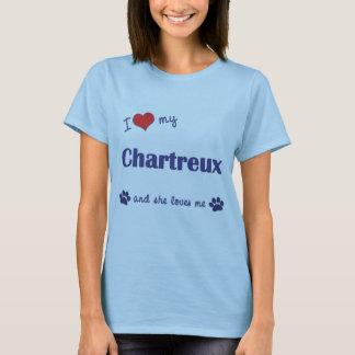 T-shirt J'aime mon Chartreux (le chat femelle)