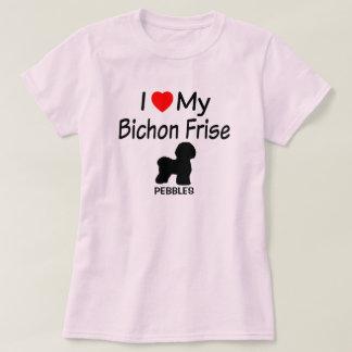 T-shirt J'aime mon chien de Bichon Frise