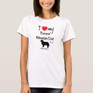 T-shirt J'aime mon chien de montagne de Bernese