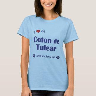 T-shirt J'aime mon coton de Tulear (le chien femelle)