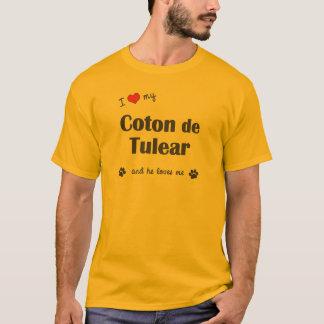 T-shirt J'aime mon coton de Tulear (le chien masculin)