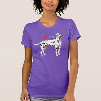 T-shirt J'aime mon Dalmate