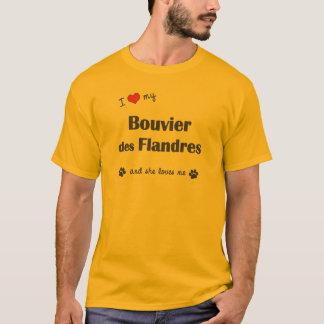 T-shirt J'aime mon DES Flandres (le chien femelle) de