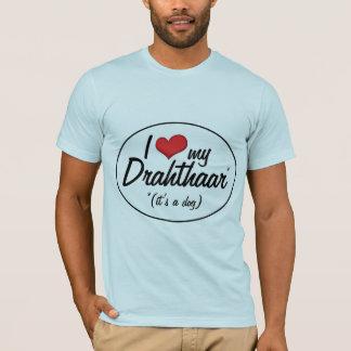 T-shirt J'aime mon Drahthaar (c'est un chien)