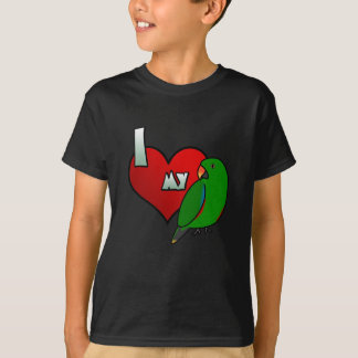 T-shirt J'aime mon Eclectus grand
