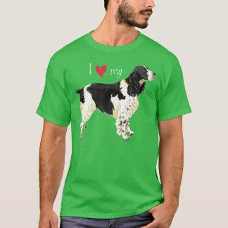 T-shirt J'aime mon épagneul de springer anglais