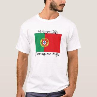 T-shirt J'aime mon épouse portugaise
