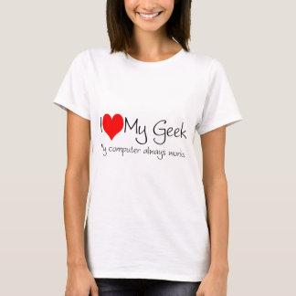 T-shirt J'aime mon geek