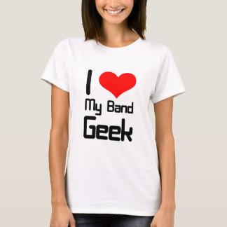 T-shirt J'aime mon geek de bande
