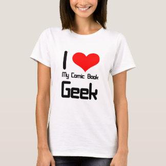 T-shirt J'aime mon geek de bande dessinée