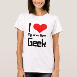 T-shirt J'aime mon geek de jeu vidéo