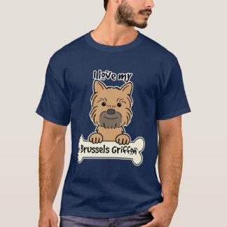 T-shirt J'aime mon griffon de Bruxelles
