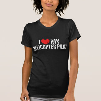 T-shirt J'aime mon hélicoptère+Pilote
