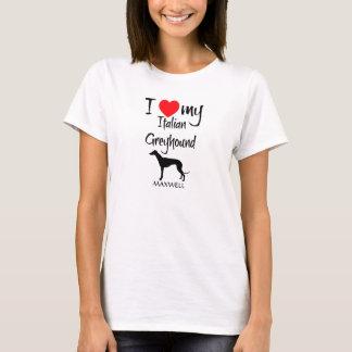T-shirt J'aime mon lévrier italien