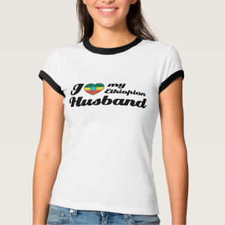 T-shirt J'aime mon mari éthiopien