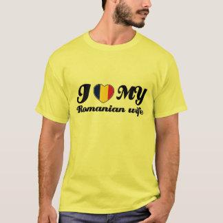 T-shirt J'aime mon mari roumain