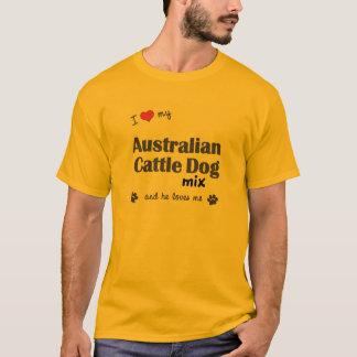 T-shirt J'aime mon mélange australien de chien de bétail