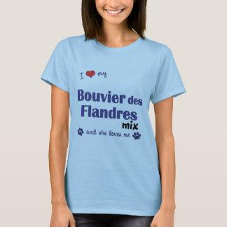 T-shirt J'aime mon mélange de DES Flandres de Bouvier (le