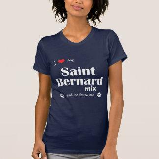 T-shirt J'aime mon mélange de St Bernard (le chien