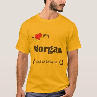 T-shirt J'aime mon Morgan (le cheval masculin)