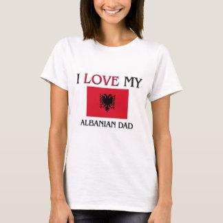 T-shirt J'aime mon papa albanais