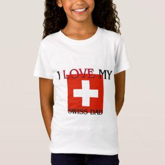 T-Shirt J'aime mon papa suisse