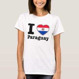 T-shirt J'aime mon Paraguayer