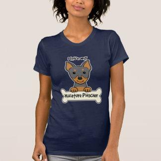 T-shirt J'aime mon Pinscher miniature