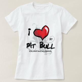 T-shirt J'aime mon pitbull !