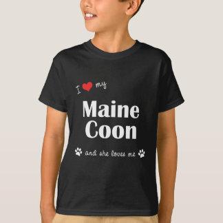 T-shirt J'aime mon ragondin du Maine (le chat femelle)