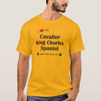 T-shirt J'aime mon Roi cavalier Charles (les chiens