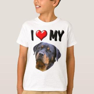 T-shirt J'aime mon rottweiler 3