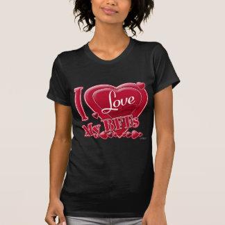 T-shirt J'aime mon rouge de BFFs - coeur