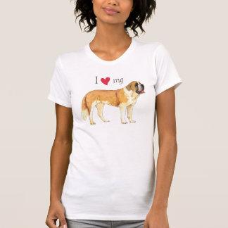 T-shirt J'aime mon St Bernard