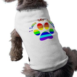 T-shirt J'aime mon tee - shirt de chien de patte