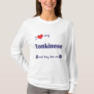 T-shirt J'aime mon Tonkinese (les chats multiples)