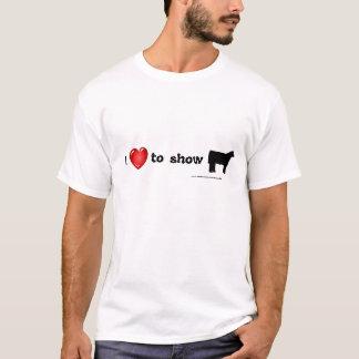 T-shirt j'aime montrer des bétail
