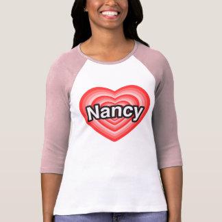 T-shirt J'aime Nancy. Je t'aime Nancy. Coeur